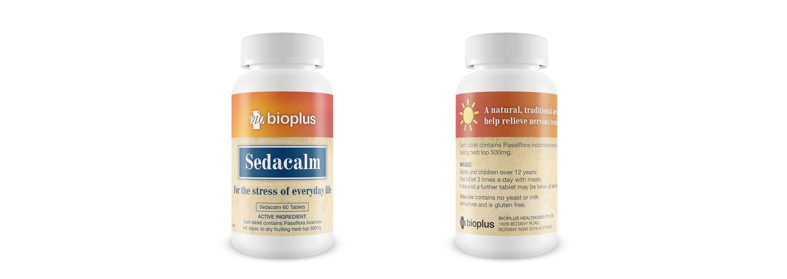 Bioplus Sedacalm Bottle Label