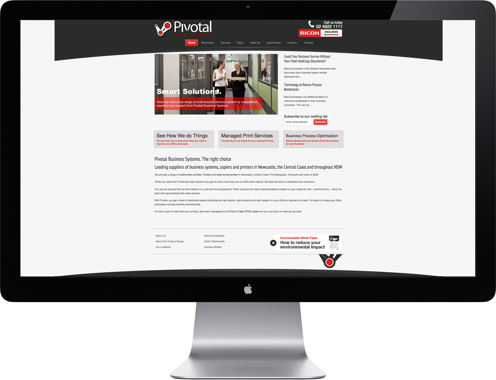 Pivotal Business Systems Website Development