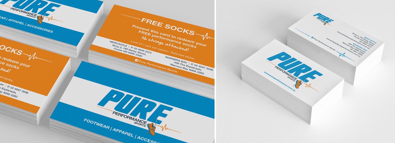 Pure Performance Sports Stationery Design