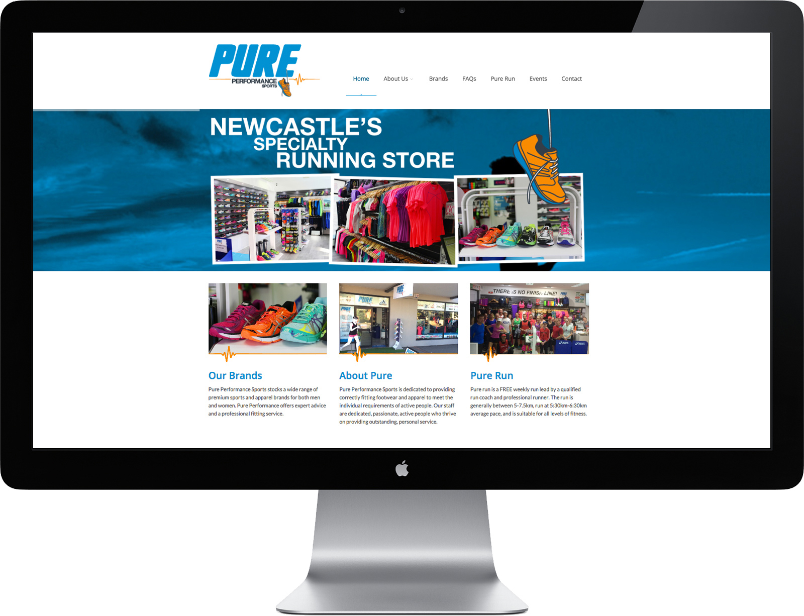 Pure Performance Sports Website Design and Development