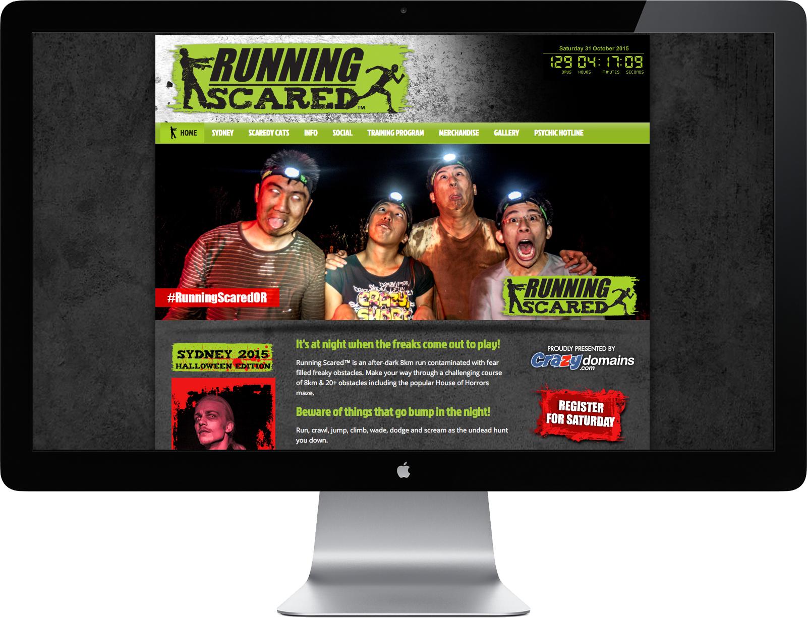 Running Scared Website Design