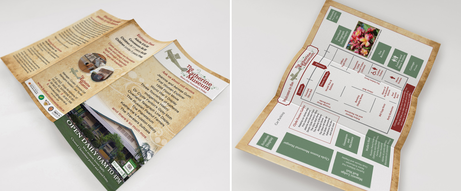 The Katherine Museum Brochure Design