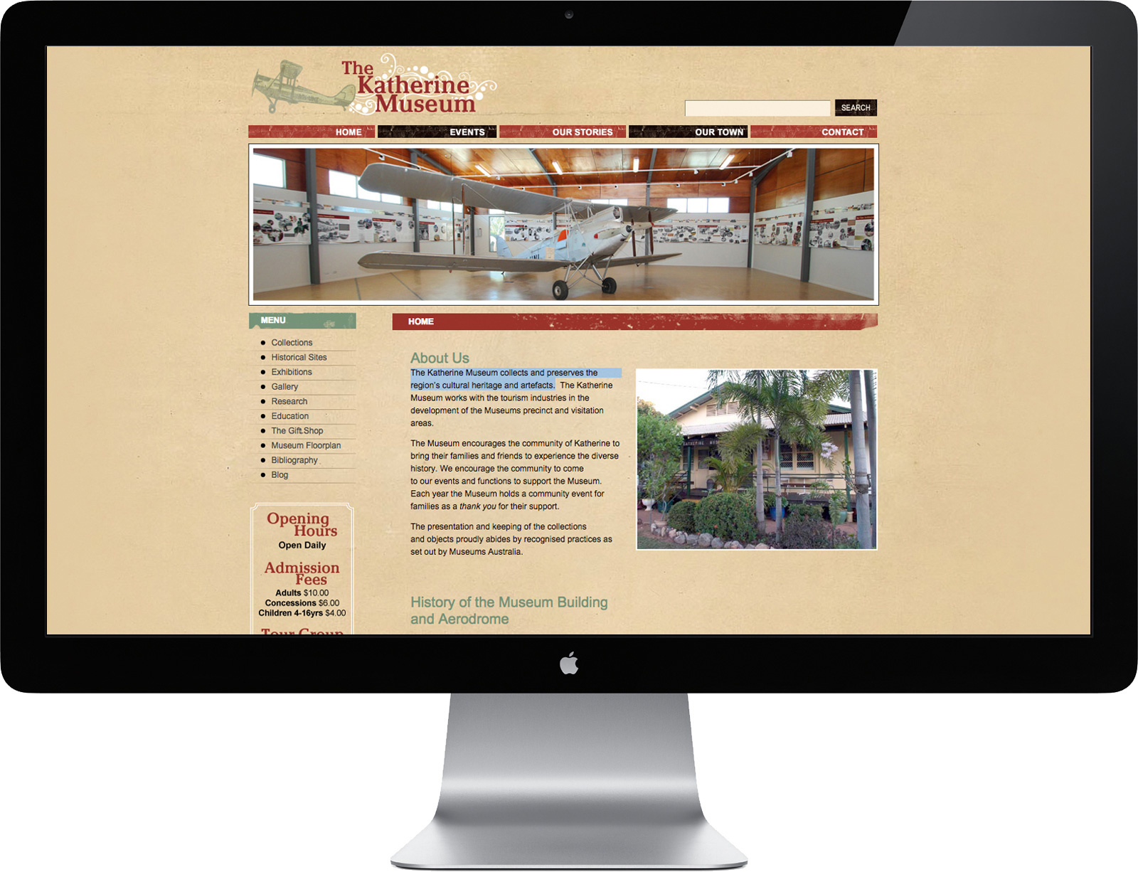 The Katherine Museum Website Design and Development