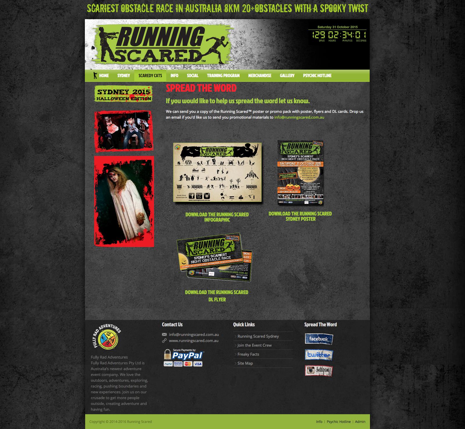 Running Scared Website